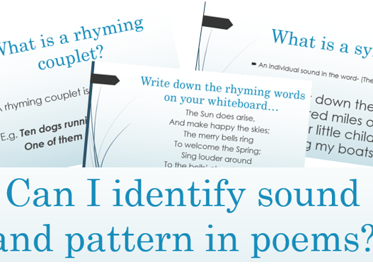 Sound and Patterns in Poems- Rhyming Words and Syllables KS2
