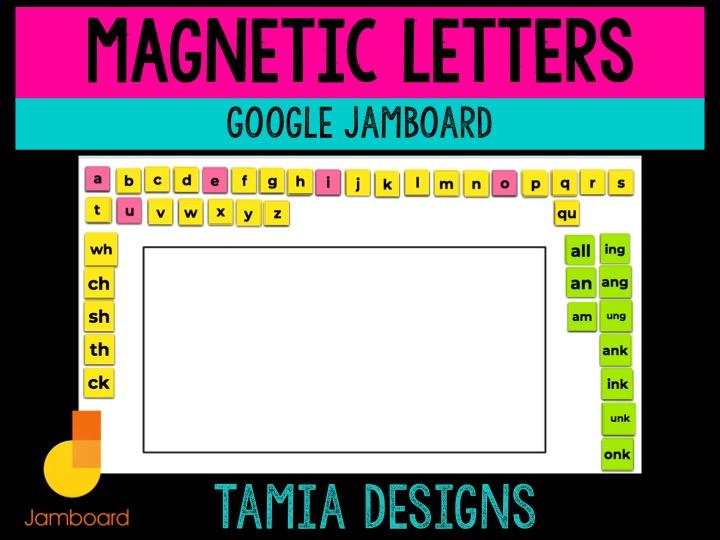 Google Jamboard alphabet mat