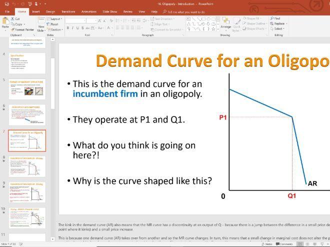 16. Oligopoly (Slides, Activities and Notes) - Edexcel A-Level Economics - Theme 3