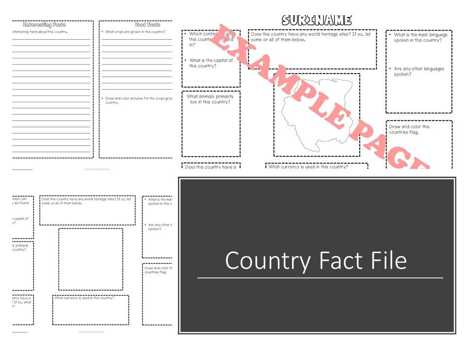 Country Fact File Template