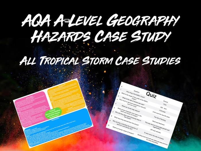 AQA A-Level Geography Hazards Wild Fires and Tropical Storms Case Studies with Quiz