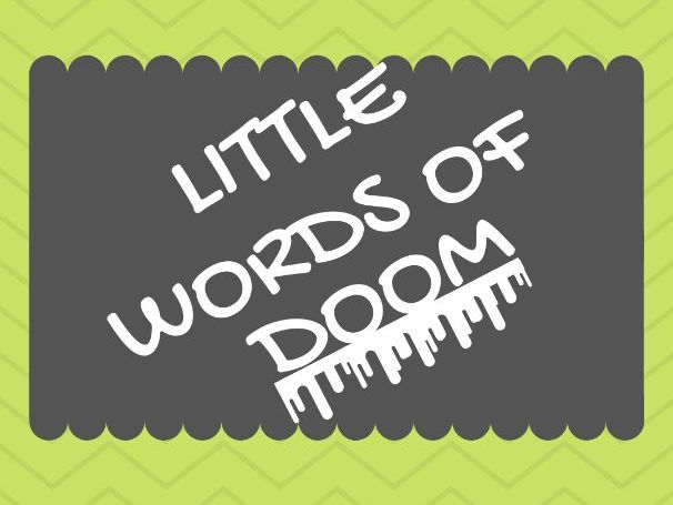 Listening exam skills - Little words of DOOM!
