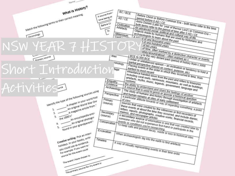 What is History? Intro activity