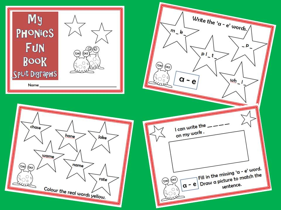 Phonics Revision Workbook - Split Digraphs