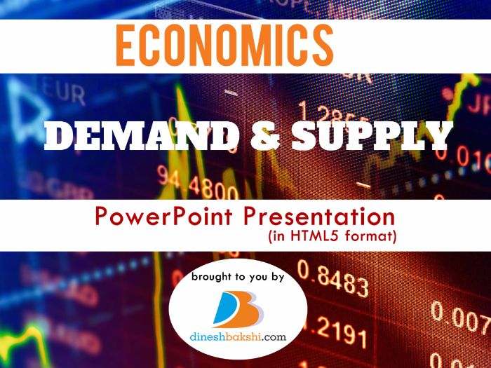 Demand and Supply Presentation - IGCSE/A Level/IB Economics