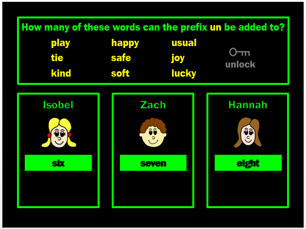 Prefixes Powerpoint Game by Grammatickx