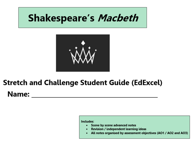 GCSE 9-1 Macbeth EdExcel Scheme of Work / Learning