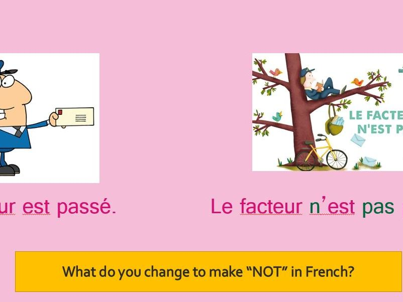 LE FACTEUR N'EST PAS PASSE - FRENCH PRIMARY - SONG AND LESSON.
