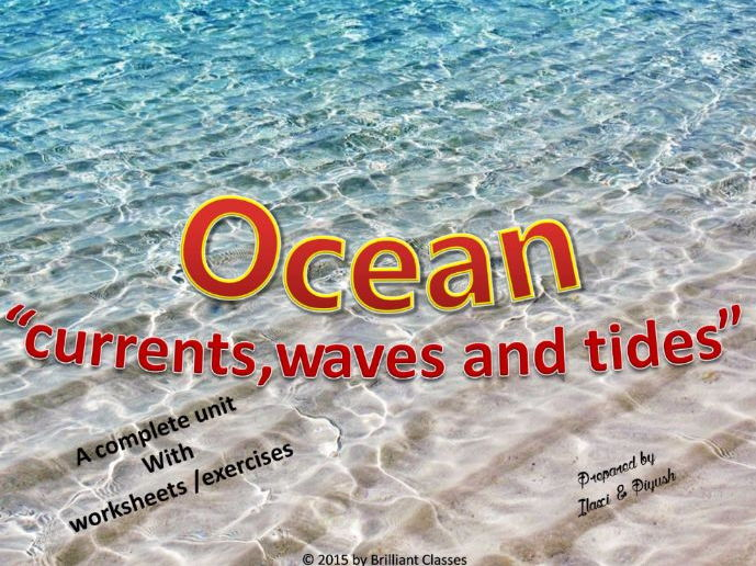 Ocean Currents Waves And Tides Types And Causes With Worksheets