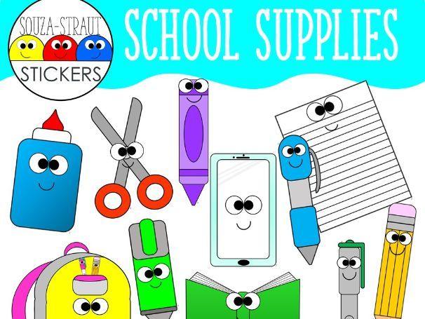 School Supplies Clip Arts