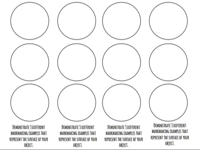 Markmaking Worsheet (Circles)