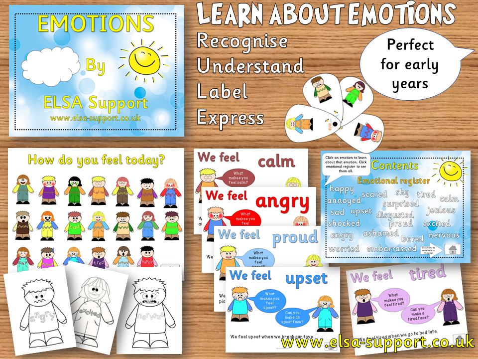 Emotions Eyfs - Emotional literacy/emotional intelligence pack, PSHE