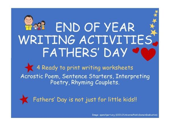 End of Year FathersDay WritingActivities