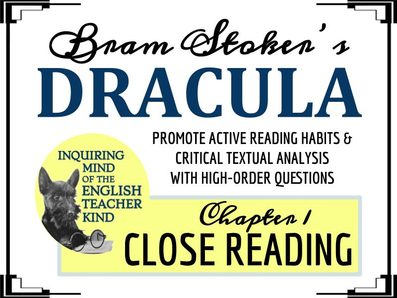 Dracula Close Reading Passage and Questions from Chapter 1
