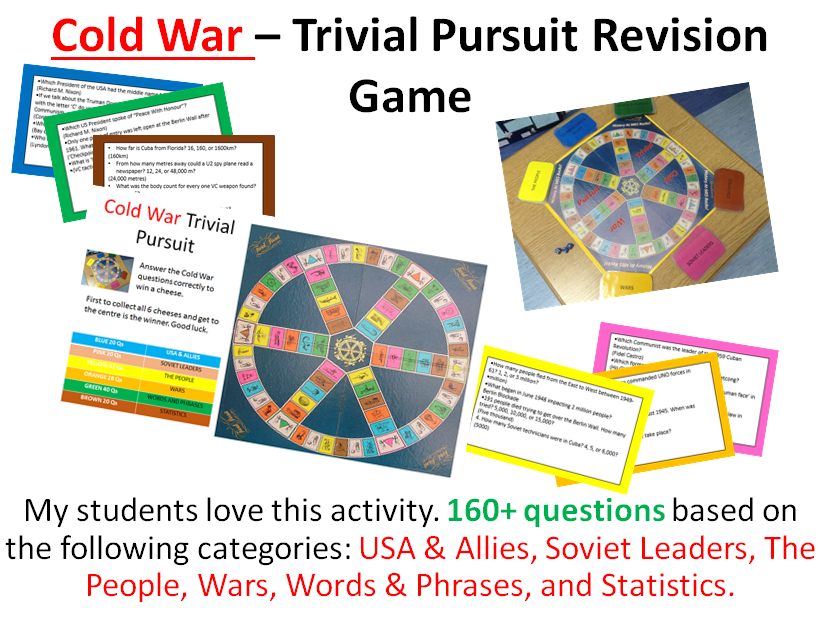 The Cold War - Trivial Pursuit Revision Activity (160+ questions)