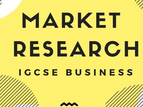 3.2 - Market Research IGCSE Business