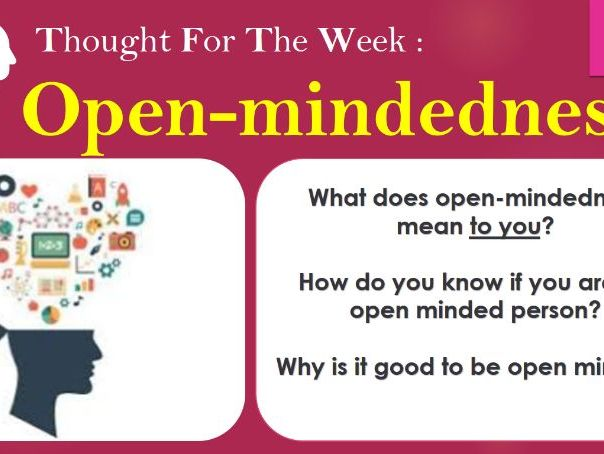 Open mindedness power point