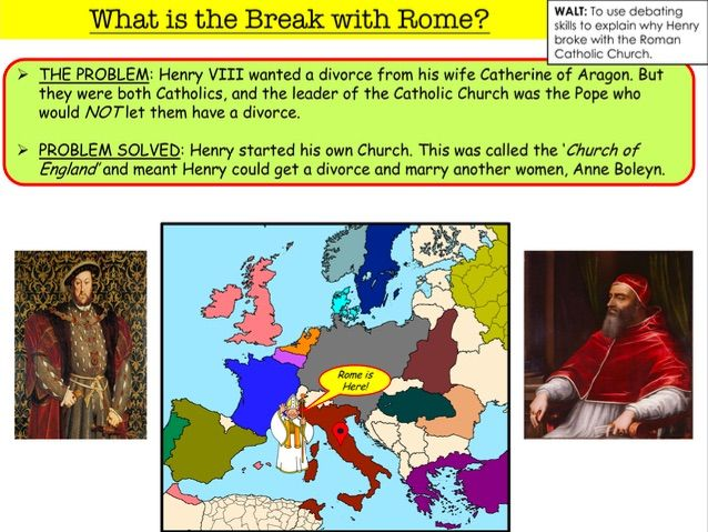 What is the Break with Rome?