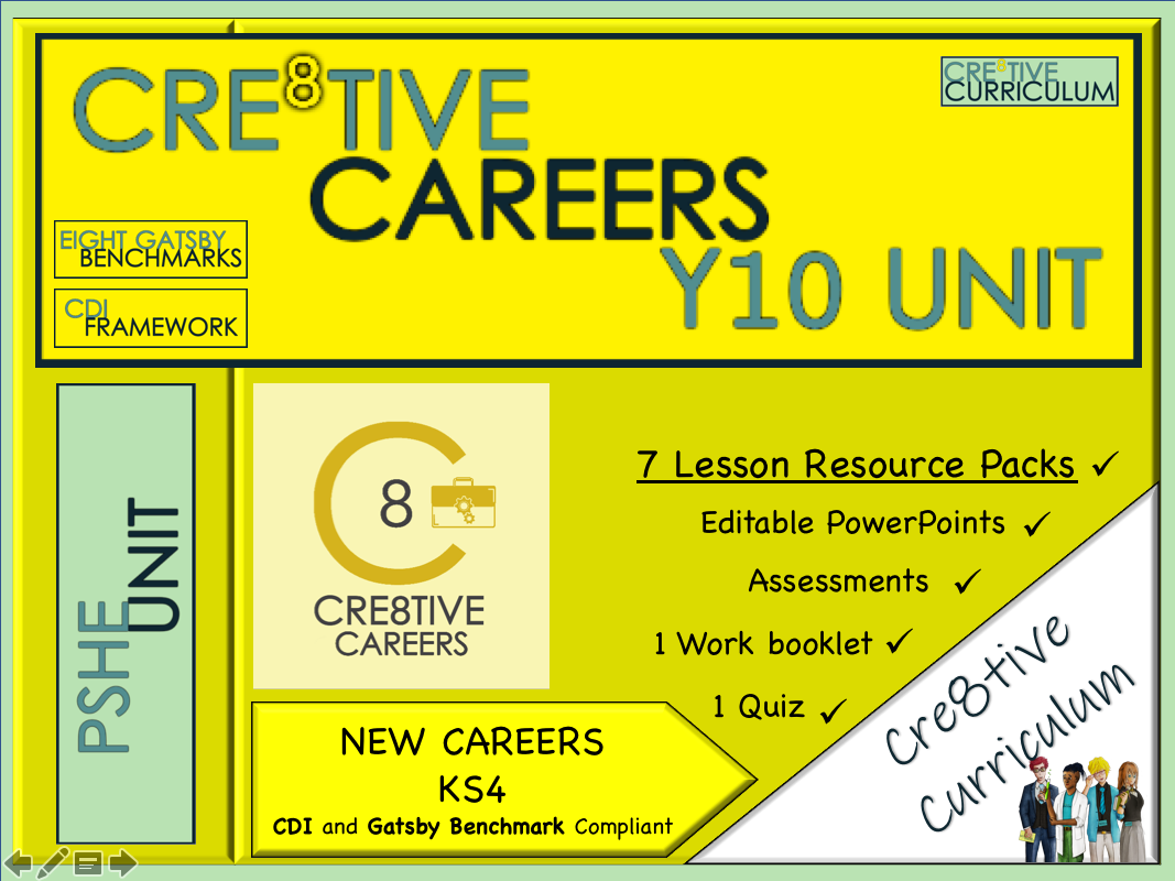 Cre8tive Careers Year 10 CDI + Gatsby Benchmarks