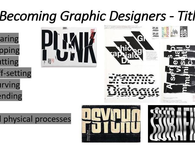 Graphic Design Lesson 1 - Titles