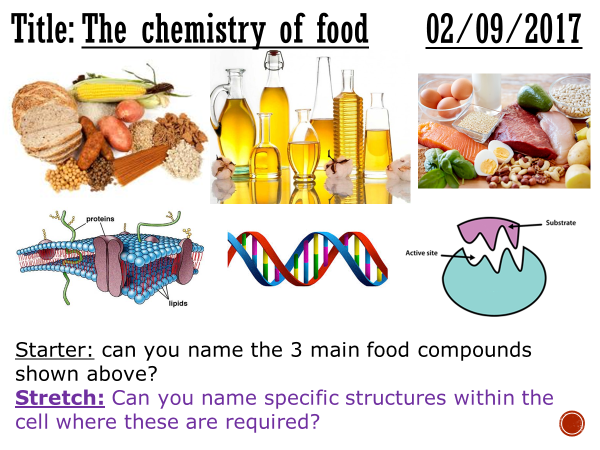 The chemistry of food - complete lesson (GCSE 1-9)