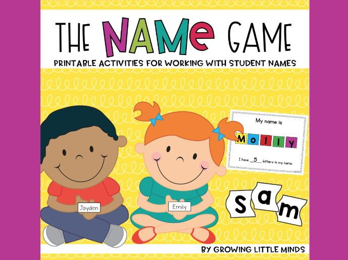 The Name Game:  Activities for Learning Your Name!