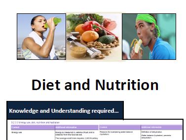 AQA GCSE PE - ILT2 - Diet & Nutrition