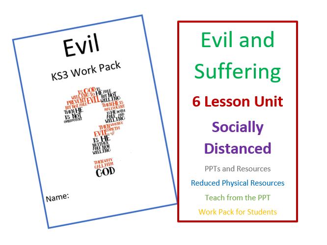 KS3 Evil and Suffering - Socially Distanced Unit of Learning