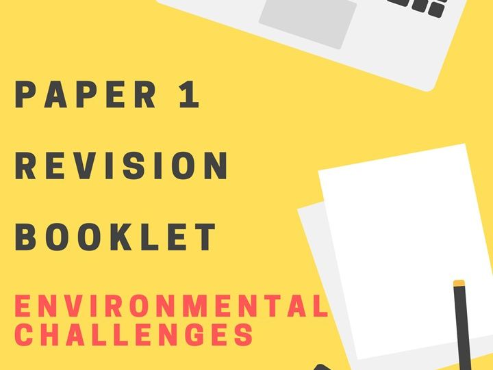 OCR A 9-1 GCSE Geography Paper 1 Revision Work Booklets