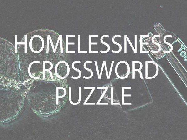Homelessness Crossword Puzzle (UK)
