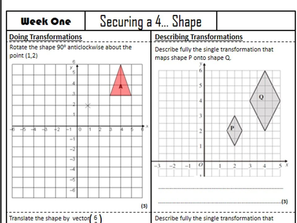 Securing a 4 - 8 revision packs - 80 Mathematics Worksheets