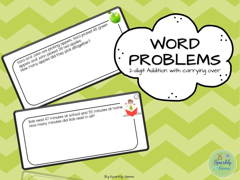 Word Problems - Addition with carrying over/ Regrouping