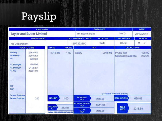 Employment Finance - Payslips and P60s