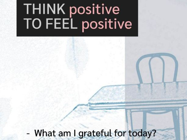 Think Positive to Feel Positive Poster and Activity (UK)