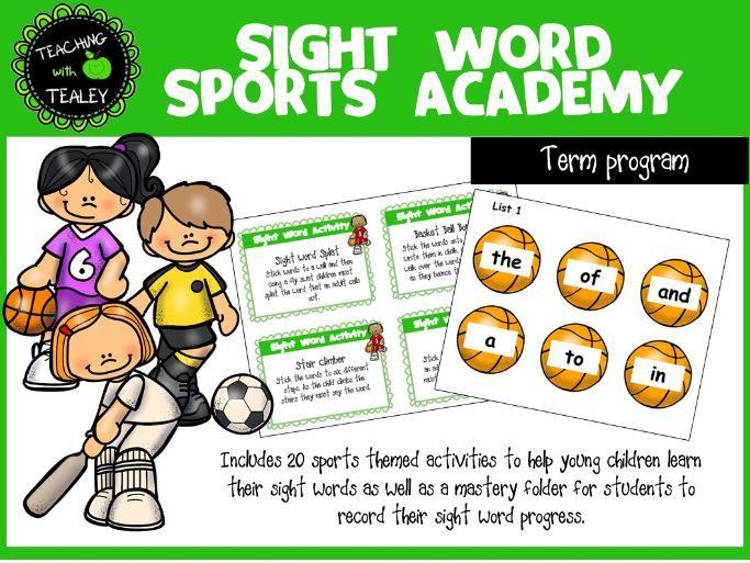 Sight Word Program - Sports Academy