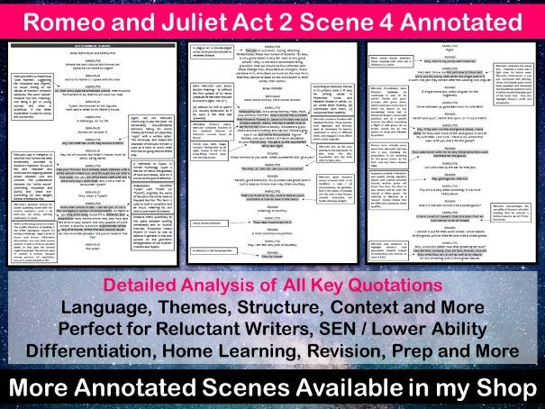 Romeo and Juliet Act 2 Scene 4 Annotated