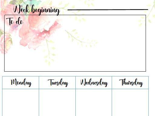 Editable Printable Diary Pages DIY Teacher Planner