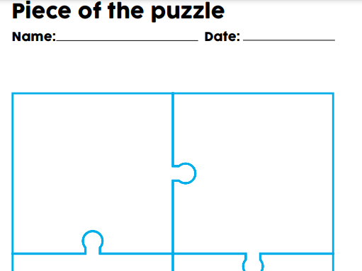 Piece of the Puzzle - activity for whole school