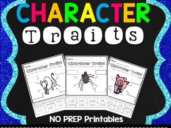 Charlotte's Web Character Trait Activities