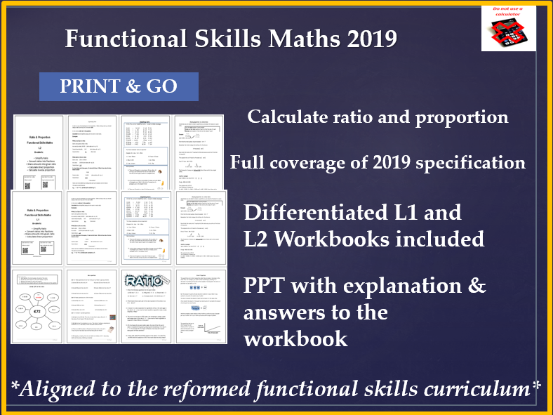 Ratio and proportion reformed functional skills level 1 & 2 Reformed functional skills
