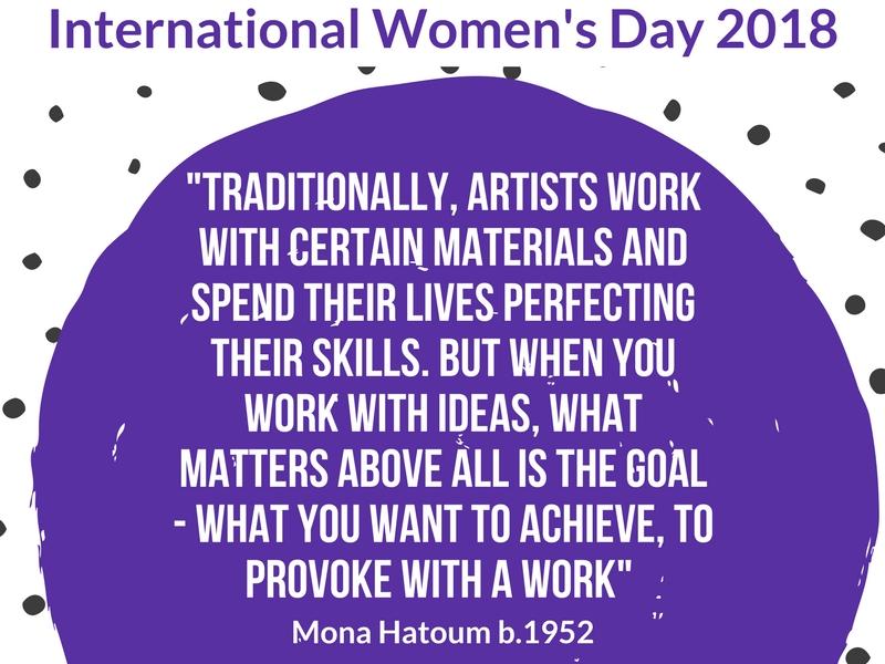International Women's Day 2018 poster Art Quote