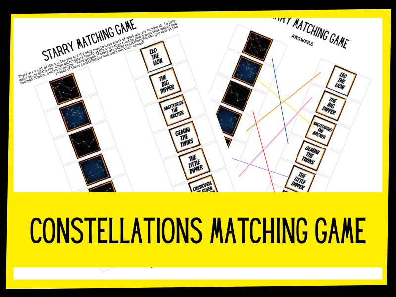 KS2 Space - Constellation matching game.