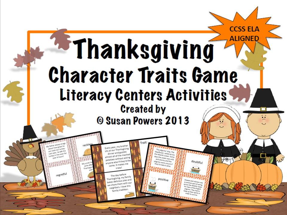 A Thanksgiving Guess the Characters Traits Game
