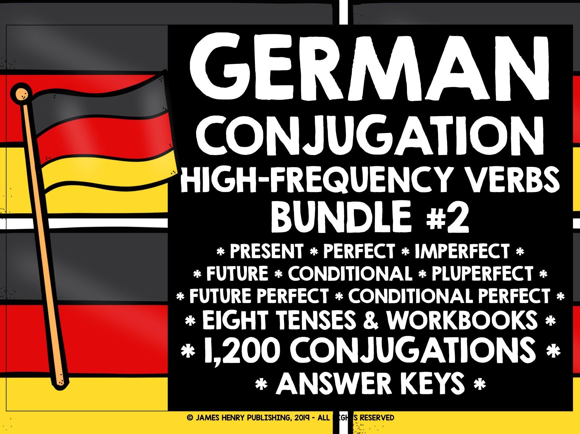 GERMAN HIGH-FREQUENCY VERBS CONJUGATION BUNDLE 2