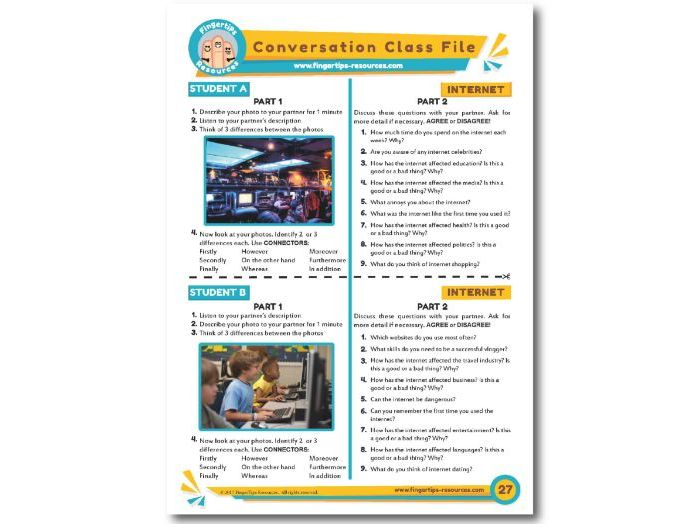 Internet - ESL Conversation Activity