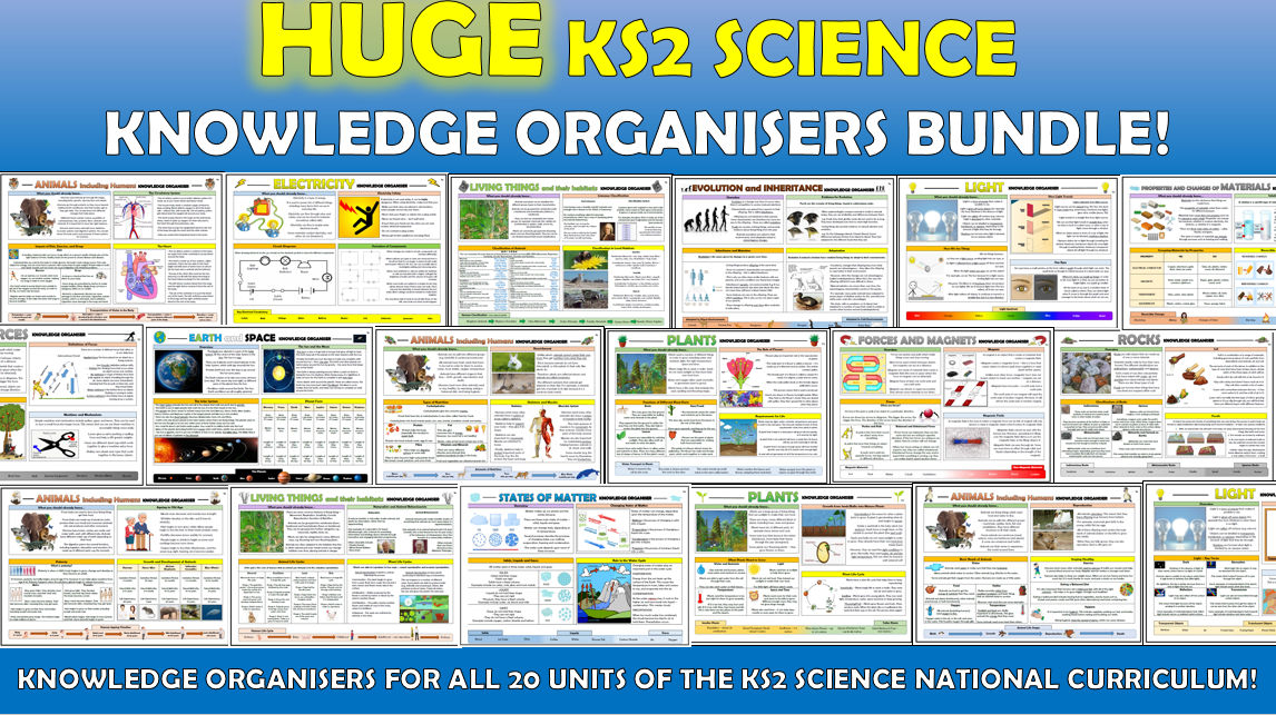 Huge KS2 Science Knowledge Organisers Bundle!