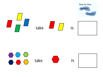 Step by step visual subtraction