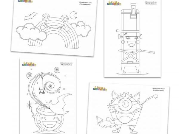 Halloween Colouring Sheets - The Mark Makers