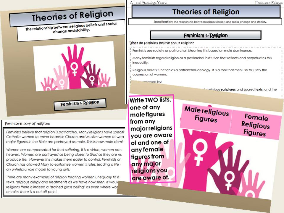 AQA Sociology - Year 2 - Beliefs in Society - Feminism & Religion