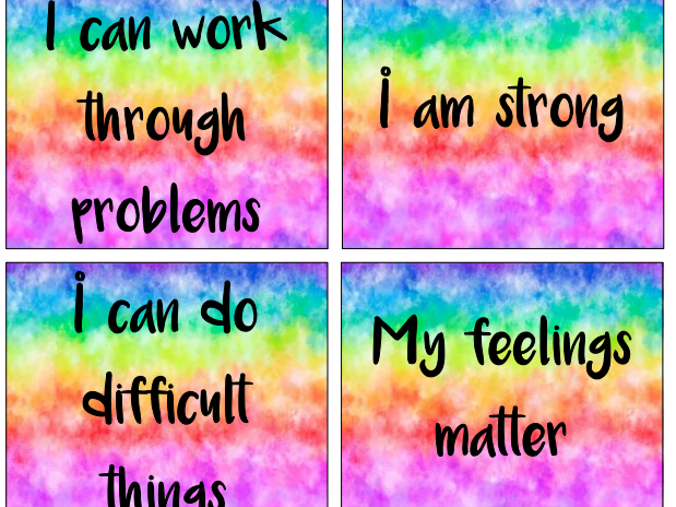 Positive Affirmations for the classroom